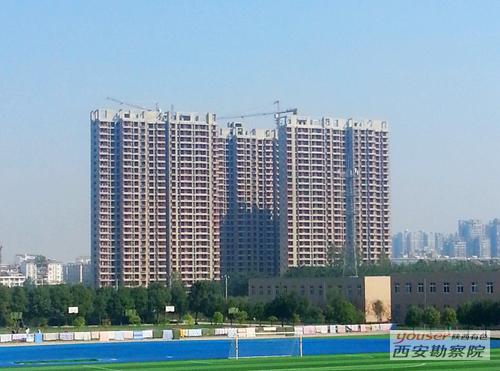 有色陕建汉中有色家苑项目主体工程全部封顶