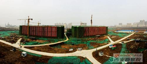 有色陕建孟津文博中心艺术中心项目顺利封顶