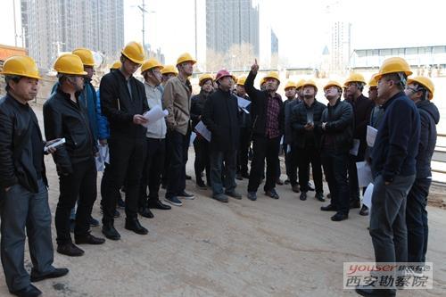 院技术处组织开展金辉环球广场项目基坑支护工程观摩学习
