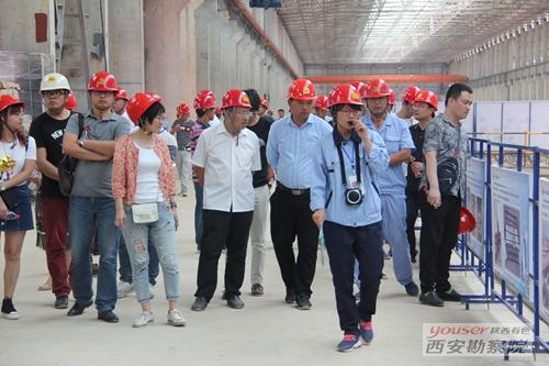 有色陕建组织开展陕西美鑫铝镁合金项目观摩学习活动