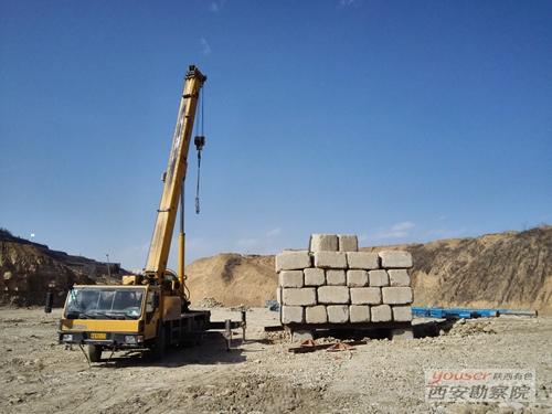 高新所承接的延安市新区东区一期岩土综合治理检测工程进展顺利