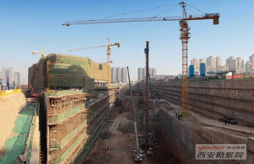 金辉环球广场超深基坑项目顺利竣工