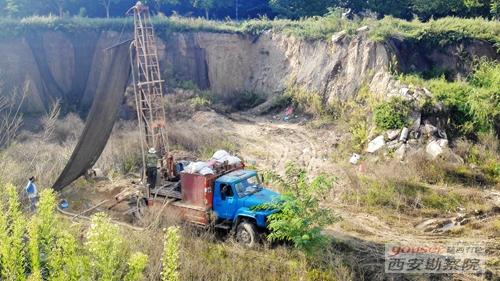 岩土五公司摩尔中心二期岩土工程勘察项目顺利开展