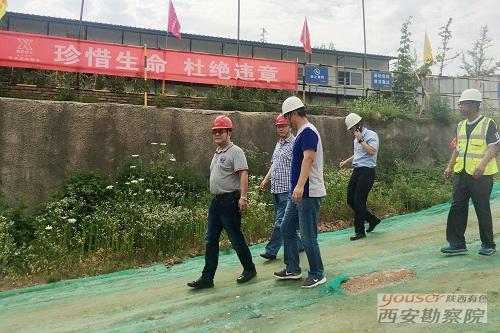 公司领导带队检查工程管理公司施工现场安全生产工作